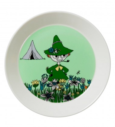 Talerz Muminki 19 cm Włóczykij Zielony