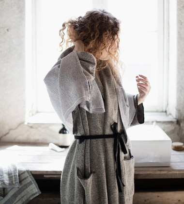 Ręcznik Terva 48x70 Biało-Szary