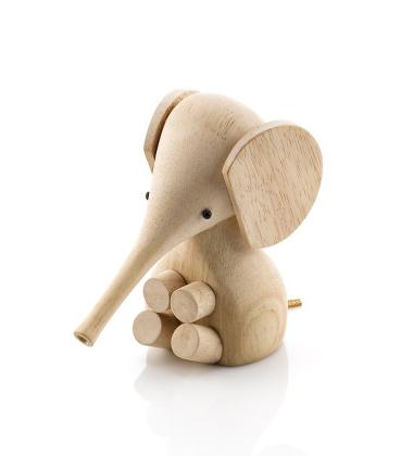 Drewniany Słonik Elephant 11 cm Drzewo Kauczukowe