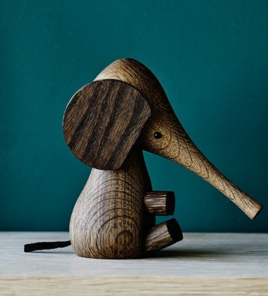 Drewniany Słonik Elephant 11 cm Palony Dąb