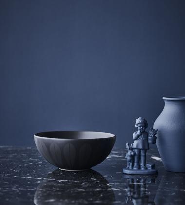 Misa z porcelany Lotus 21 cm Czarna Mat