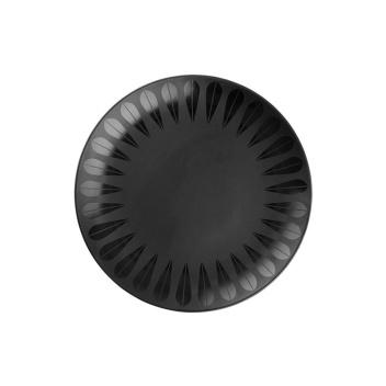 Talerz z porcelany Lotus 21 cm Czarny Mat