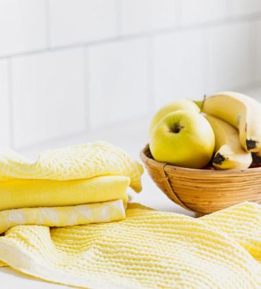 Ścierka kuchenna Helmi 48x70 Biało-Żółta