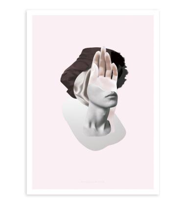 Salut 03 Poster 50x70 Pink