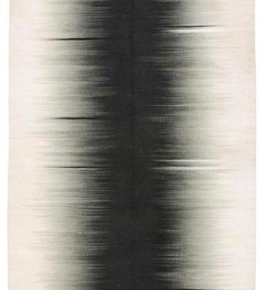 Dywan-Kilim Kimono 160x220 Czarno-Biały