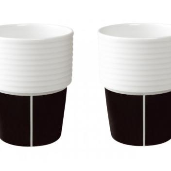 Kubki Espresso Filippa K 140 ml Set 2 Black
