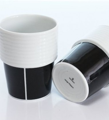 Kubki Espresso Filippa K 140 ml Set 2 Black