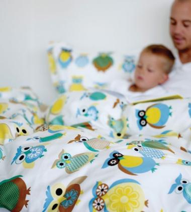 Pościel dziecięca 140x200 Junior Freddys Family Niebieska