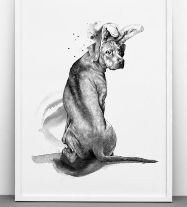 Wannabee Poster 50x70 Biało-Czarny
