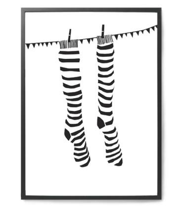 Knock Your Sock Off Poster 50x70 Biało-Czarny