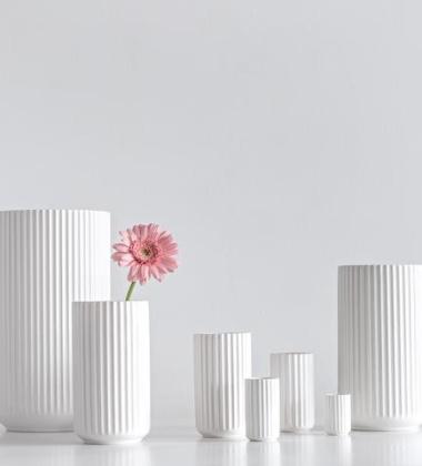 Wazon z porcelany Lyngby 20 cm Biały
