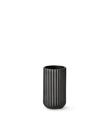 Wazon z porcelany Lyngby 15 cm Czarny Matowy