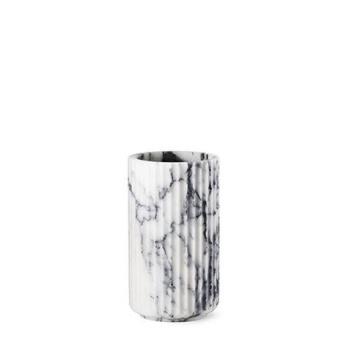 Wazon Lyngby Anniversary 20 cm Biały Marmur