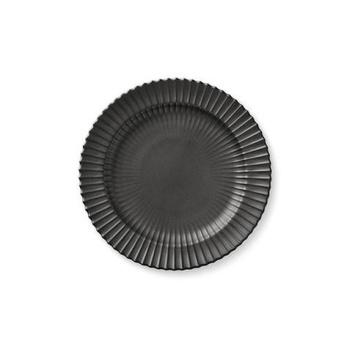 Talerz z porcelany Lyngby 20 cm Czarny Matowy