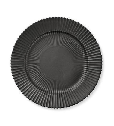 Talerz z porcelany Lyngby 27 cm Czarny Matowy