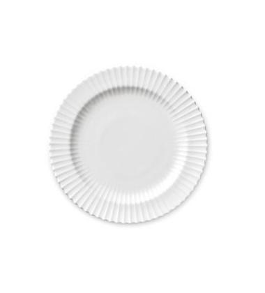 Talerz z porcelany Lyngby 20 cm Biały