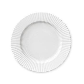 Talerz z porcelany Lyngby 27 cm Biały