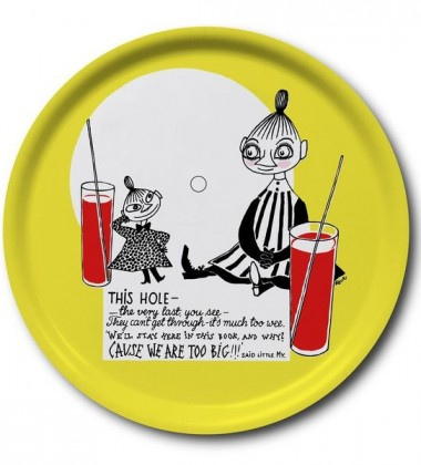 Mymble and Little My Round Moomin Tray 38 cm Yellow
