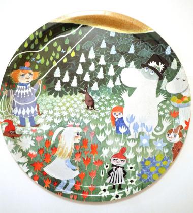 Taca Dangerous Journey Round Moomin Tray  38 cm Zielona
