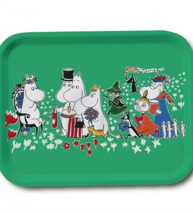 Moomin Birthday Tray 27x20 cm Green