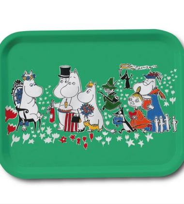 Taca Moomin Birthday Tray 27x20 cm Zielona