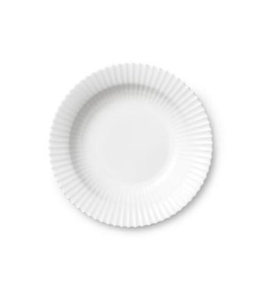 Talerz głęboki z porcelany Lyngby 21 cm Biały
