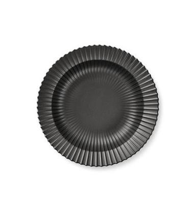 Talerz głęboki z porcelany Lyngby 21 cm Czarny Matowy