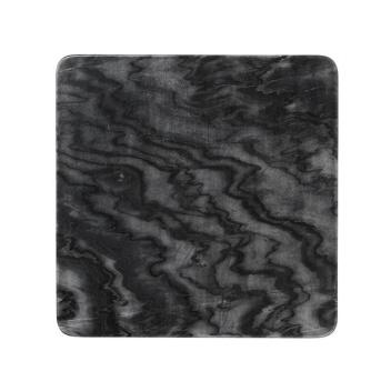 Talerz z marmuru BOBBY 36x36 Czarny Marmur