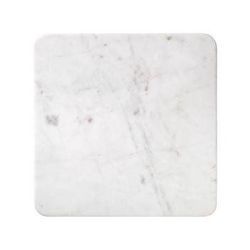 Talerz z marmuru MAGNUS 36x36 Biały Marmur
