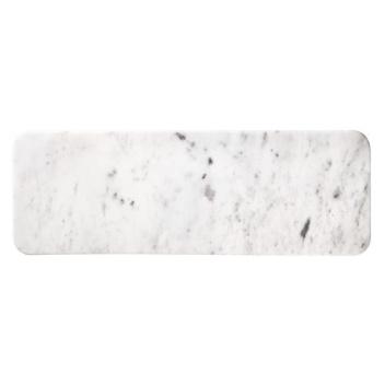 Talerz z marmuru MINGUS 18x52 Biały Marmur