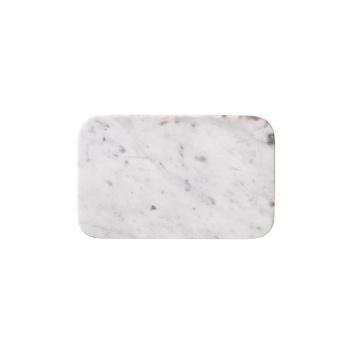 Talerz z marmuru MANFRED 15x24 Biały Marmur