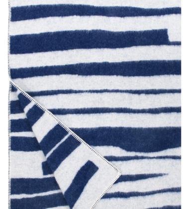 Koc Twisti Wool 130x180 Granatowo-Biały