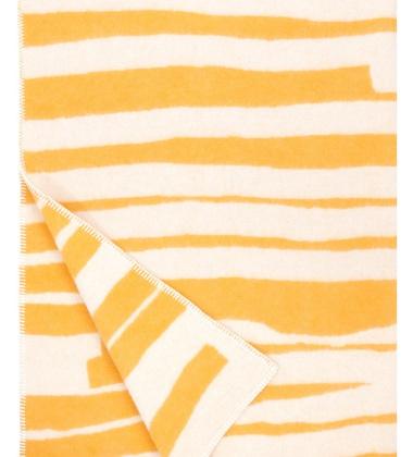 Koc Twisti Wool 130x180 Żółto-Biały