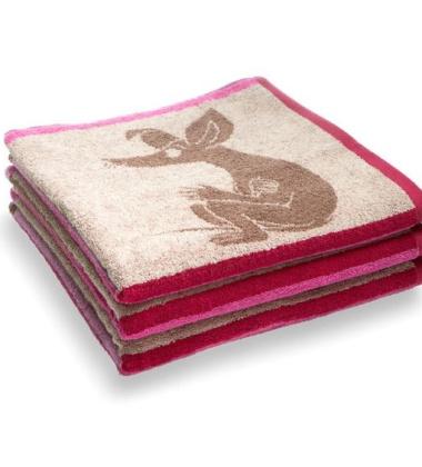 Ręcznik kąpielowy Square Muminki 70x140 Różowy