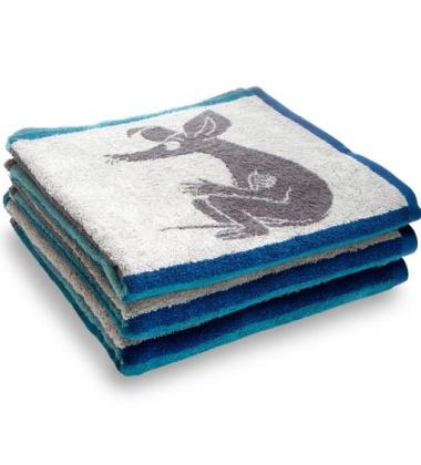 Ręcznik kąpielowy Square Muminki 70x140 Turkusowy