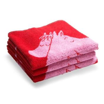 Ręcznik Muminki Love 50x70 Czerwony