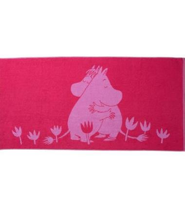 Ręcznik kąpielowy Love Muminki 70x140 Różowy