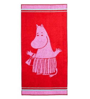 Ręcznik do rąk Muminki Mama Muminka 30x50 Czerwona