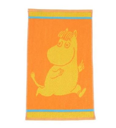 Ręcznik do rąk Muminki Migotka 30x50 Pomarańczowa