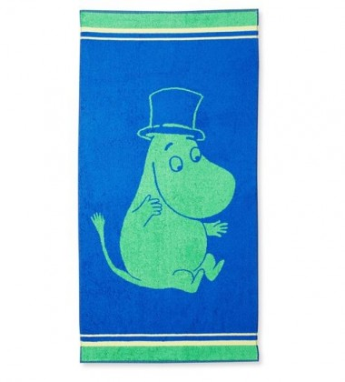 Ręcznik do rąk Muminki Tata Muminka 30x50 Zielony