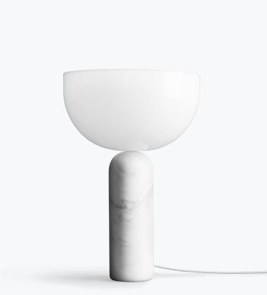 Lampa stołowa Kizu H45 cm Biały Marmur