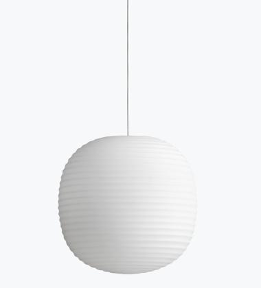Lampa wisząca LANTERN 30 cm Białe Szronione Szkło