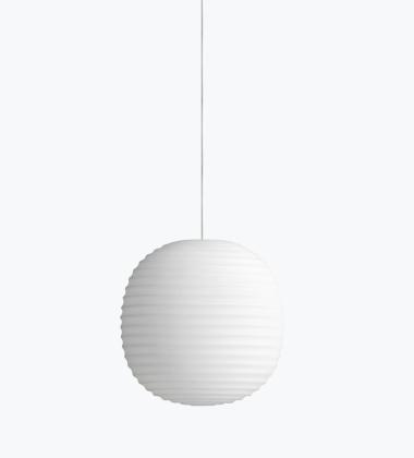 Lampa wisząca LANTERN 20 cm Białe Szronione Szkło