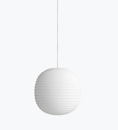 Lanternt Pendant Lamp 20 cm Frosted White Opal Glass