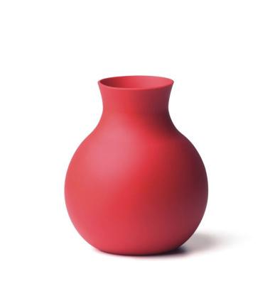 Unplugged Gumowy Wazon Mały 13 cm Czerwony