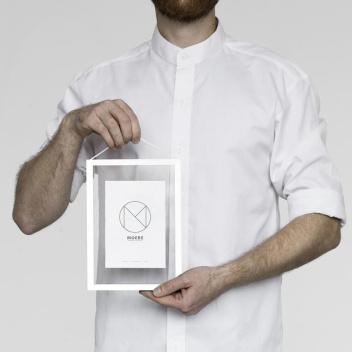 Ramka wisząca A5 Frame 23x17 cm Białe Aluminium