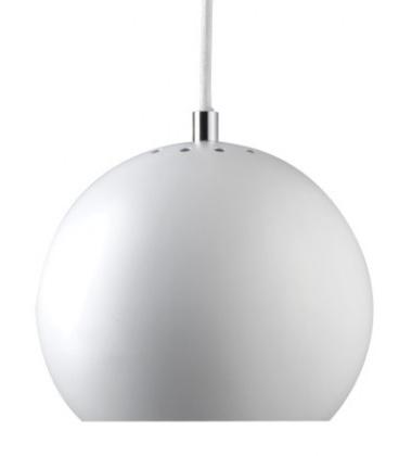 Lampa wisząca Ball 18 cm Biała Matowa