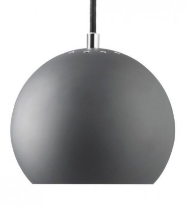 Ball Pendant Lamp 18 cm Matt Grey