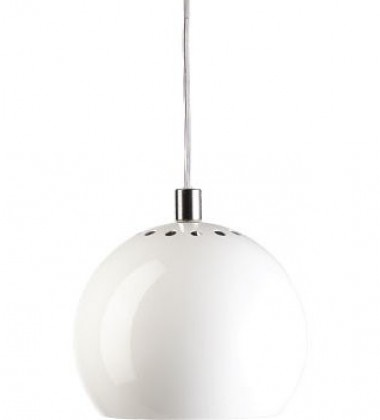 Ball Pendant Lamp 18 cm White
