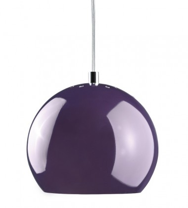 Ball Pendant Lamp 18 cm Plum